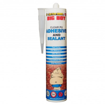 Big Boy Polyurethane Adhesive and Sealant Cartridge - Clear 310ml