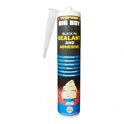 Big Boy Polyurethane Adhesive and Sealant Cartridge - Black 310ml