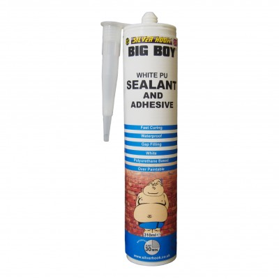 Big Boy Polyurethane Adhesive and Sealant Cartridge - White 310ml